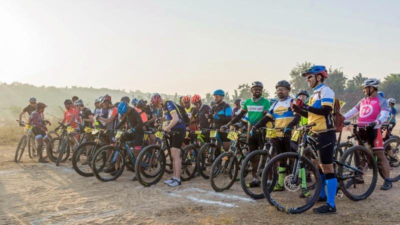 Race start at Aravalli Trailhunters