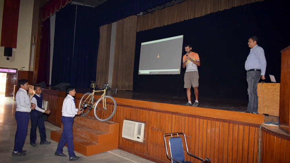 Promoting Cycling on Children's Day!