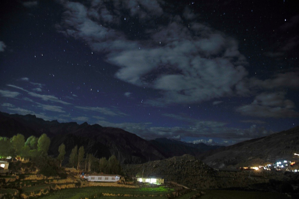 Nako Village at night Spiti