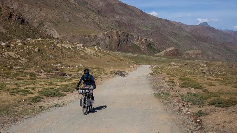 Cycling from Padum to Abran in Zanskar Valley