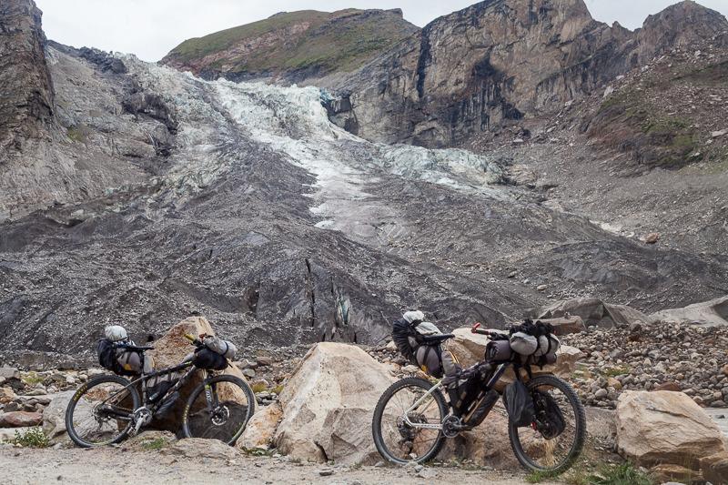 View of the Parkachik Glacier