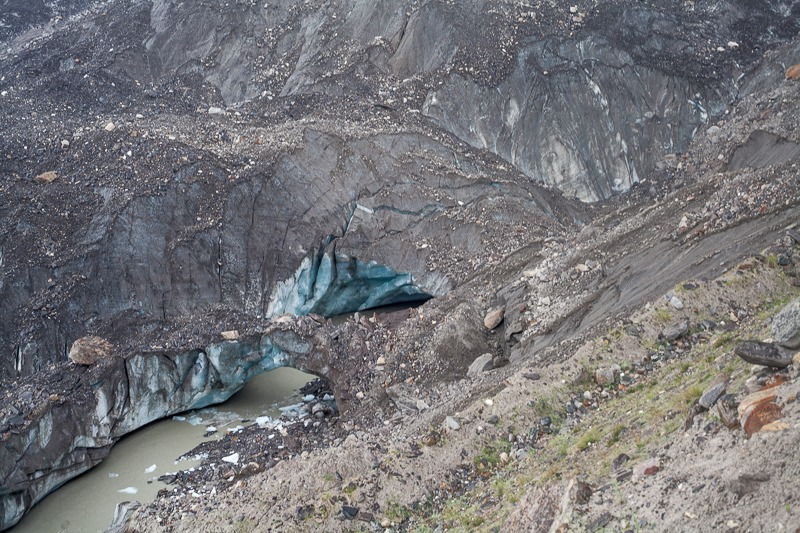 Parkachik Glacier melting ice