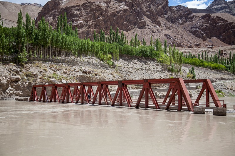 Bridge underwater of Indus River