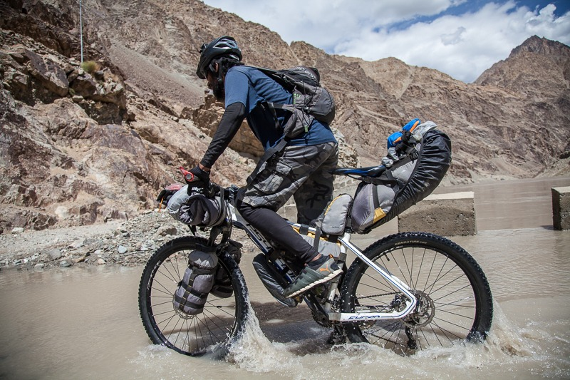 Cycling in Indus River