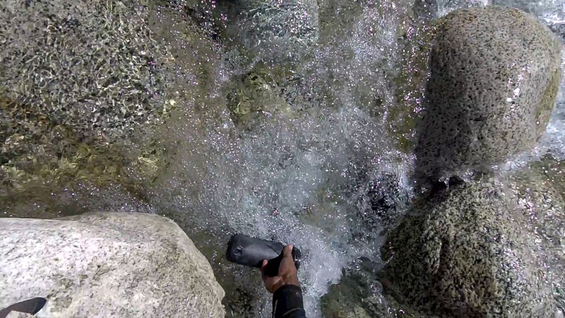 Filling water from a stream