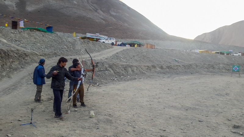 Archery at Pangong Tso