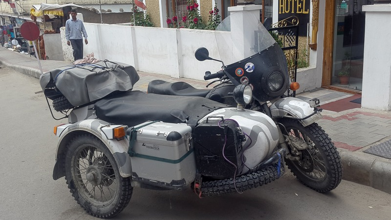 Ural Motorcycle in Leh
