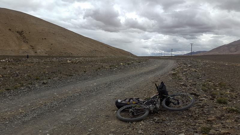 Cycling from Chushul to Tsaga