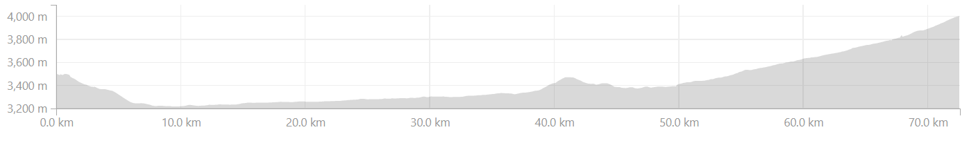 Elevation profile from Leh to Lato