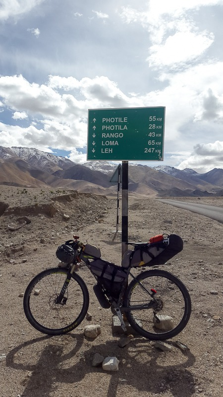 Cycling from Hanle to Sumdo