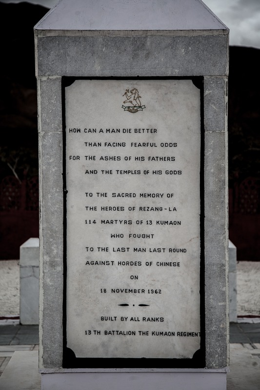 Memorial at Rezang La in Ladakh