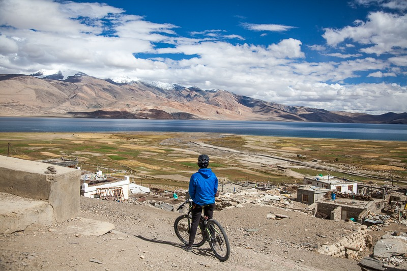 Cycling near Tso Moriri