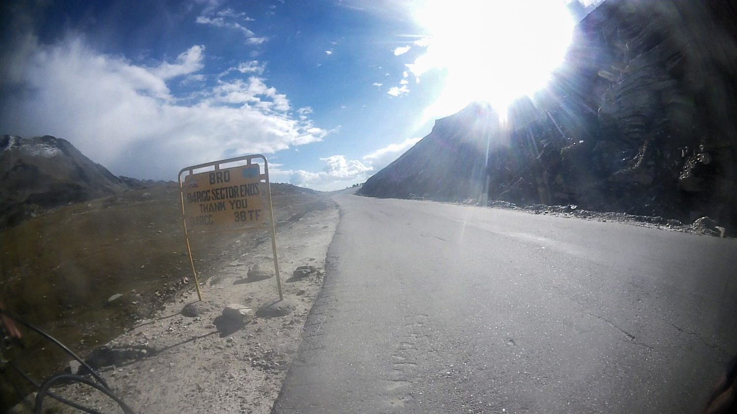 Cycling from Keylong to Manali