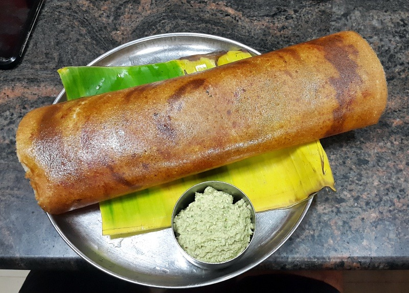 Ghee roast dosas are perfect when cycling through the western ghats