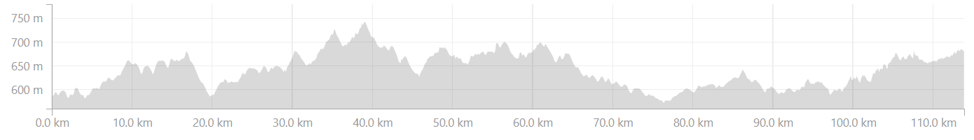 Elevation profile from Sagara to Tarekere