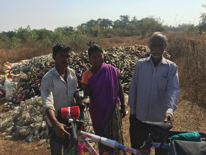 Bottle scavenging in Maharashtra