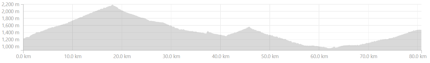 Adibadri to Dwarahat Altitude Profile