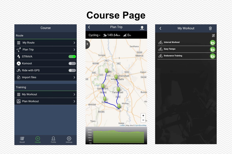 Bryton Rider 450 App Screenshots