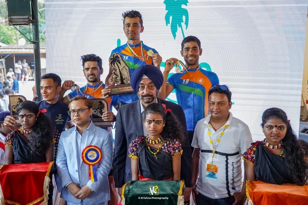 Shiven Aerohawk, Devender Thakur and KKR at MTB Kerala podium