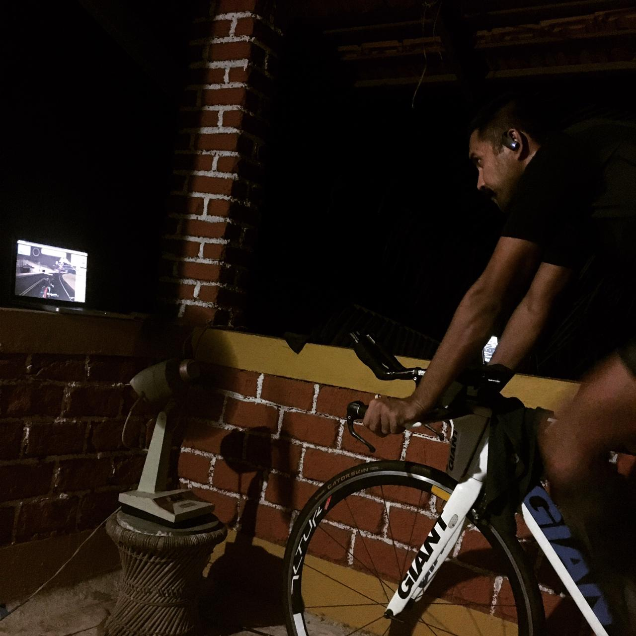 Sumit Patil cycles 24hours at night