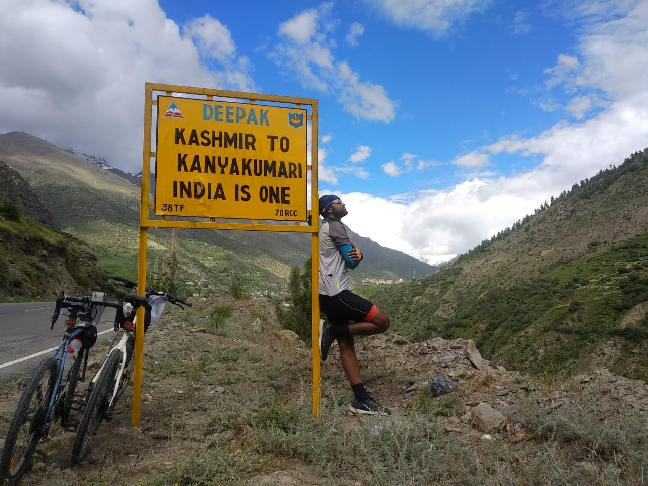 Cycling from Kanyakumari to Ladakh