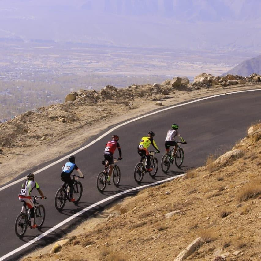 Racing at the Ultimate Ladakh Cycling Challenge 2020