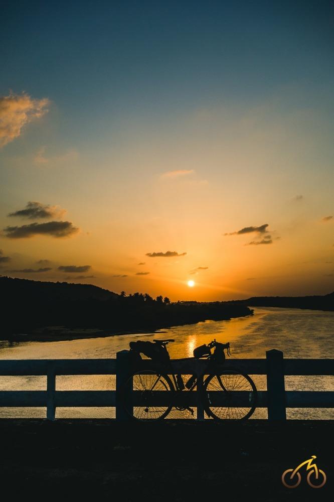 Sunset on Goa-Mumbai route