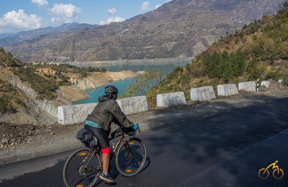 cycling through Tehri Reservoir