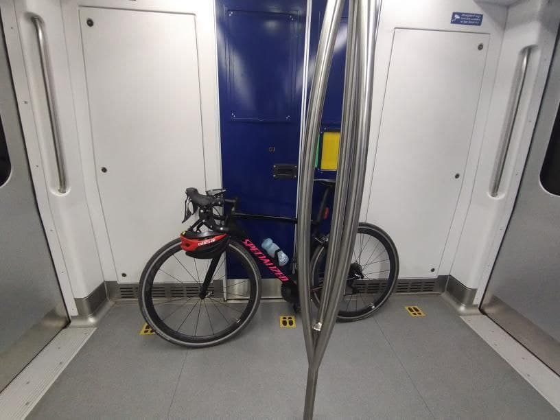 bicycle in hyderbad metro train