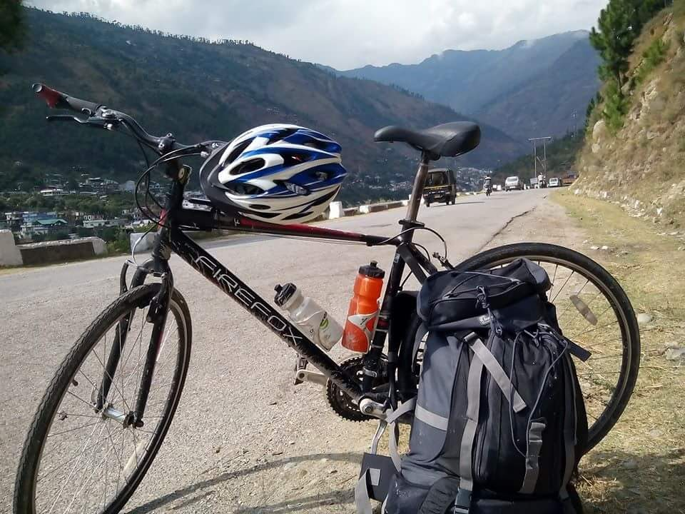 cycling touring in India with mohit