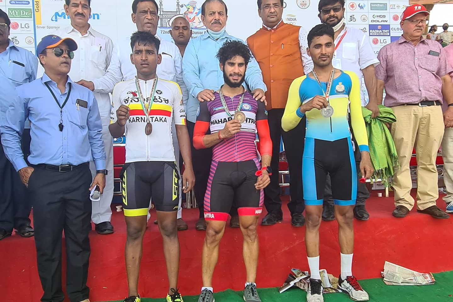 Surya Thathu at Track National Championship in Hyderabad