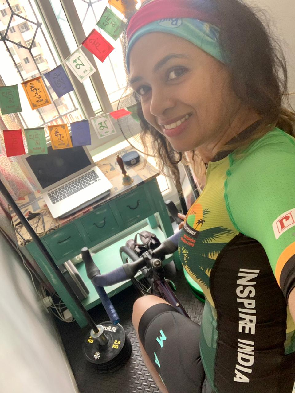Grinshina Kartik goes Everesting