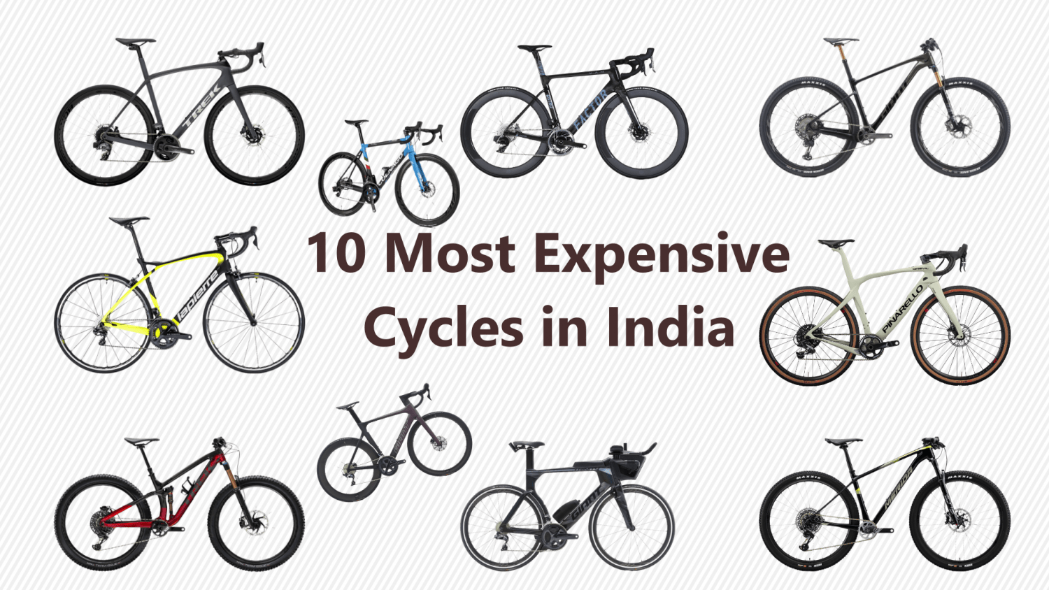 10 most expensive cycles in India